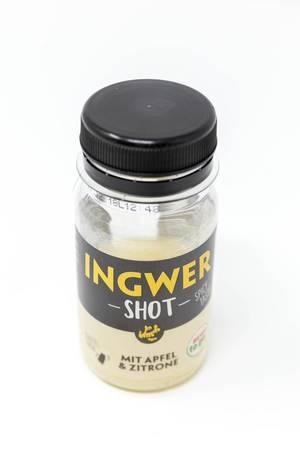 Ingwer Shot mit Apfel und Zitrone