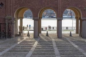 Innenhof Stockholm Stadthalle