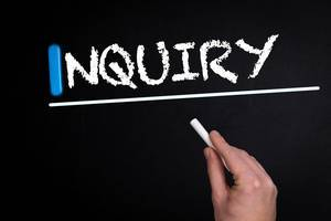 Inquiry text on blackboard