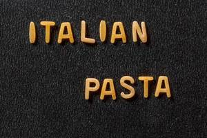 Inscription Italian pasta