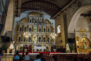 Inside the Sto. Nino Church in Cebu