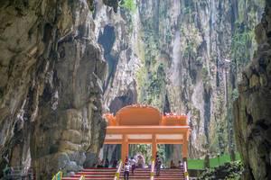 Inside View of Batu Caves in Kuala Lumpur