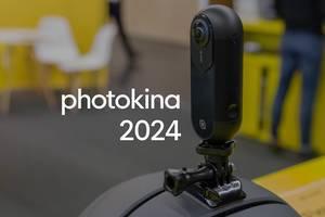 """Insta360 One Actionkamera in 4k UHD für Smartphones, neben dem Bildtitel """"photokina 2024"""""""