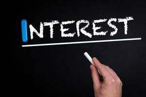 Interest text on blackboard