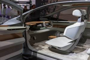 Interior design of the electric car e-tron AI:ME for autonomous driving by Audi