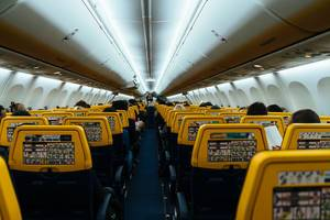 Interior of a Ryanair flight (Flip 2019)