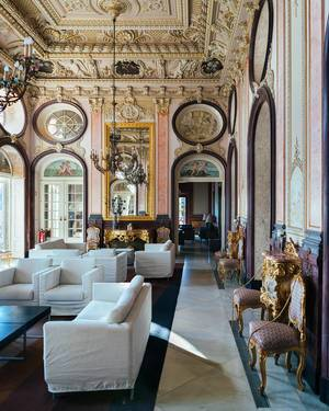 Interior of luxury hotel in Estoi, Portugal (Flip 2019)