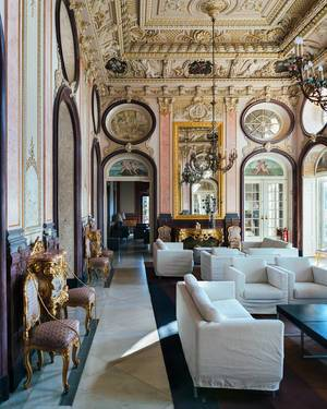 Interior of luxury hotel in Estoi, Portugal