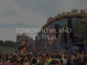 International open air Festival Tomorrowland with its MainStage with huge crowd of music enthusiasts waiting for a concert