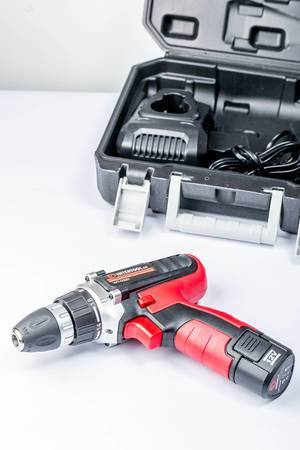 Intertool screwdriver with tool box in the background