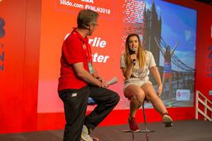 Interview mit Charlie Webster bei der London Marathon Messe