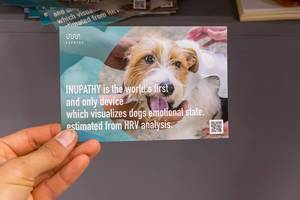 INUPATHY postcard: Dog owners can now visually see their pets emotional state based on their heart rate
