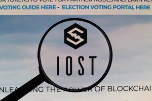 IOST logo under magnifying glass