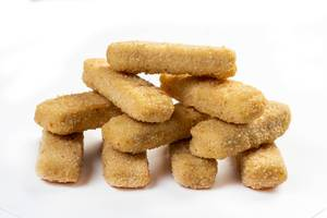 Isolated Chicken Sticks above white background