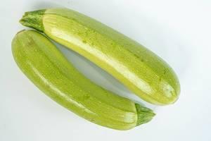 Isolated Zucchini above white background (Flip 2019)