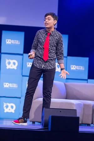 IT Genius - Tanmay Bakshi at the Start Up Festival Bits & Pretzels 2018