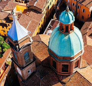 Italian cathedral from up above