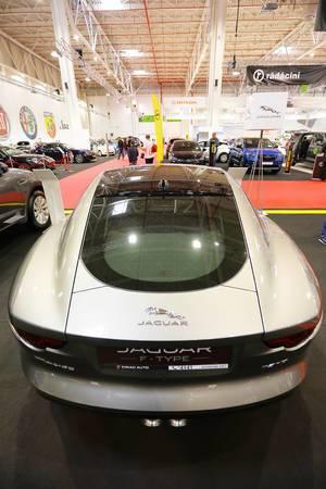 Jaguar F-Type, back view at Bucharest Auto Show 2019 SAB