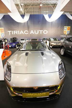 Jaguar F-Type, front view at Bucharest Auto Show 2019 SAB