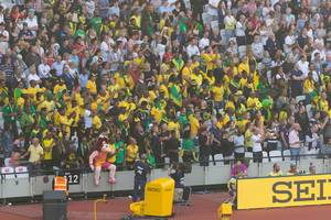 Jamaikanisch Zuschauer bei den IAAF Leichtathletik-Weltmeisterschaften 2017 in London