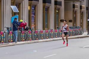 Japanese marathon runner Tsubasa Hayakawa, who ranked 20th at the Chicago Marathon 2019