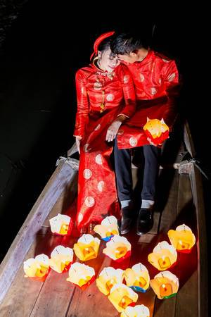 Japanisches Brautpaar in Hoi An