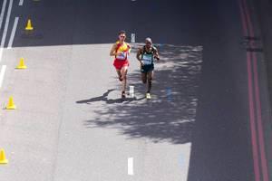 Javier Guerra und Sibusiso Nzima (Marathon Finale) bei den IAAF Leichtathletik-Weltmeisterschaften 2017 in London