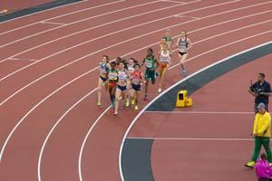 Jessica Judd, Caster Semenya und weitere 1500-Meter-Läuferinnen bei den IAAF Leichtathletik-Weltmeisterschaften 2017 in London