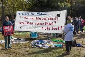 Jetzt oder nie / Grannies for Future: Omas protestieren für besseren Klimaschutz beim Klimastreik in Köln