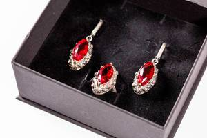 Jewelry with rubies