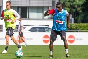 Jhon Cordoba und Simon Zoller beim Training - 1. FC Köln