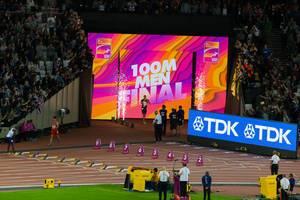 Jimmy Vicaut (100 Meter Lauf) bei den IAAF Leichtathletik-Weltmeisterschaften 2017 in London