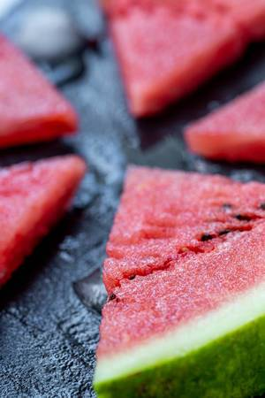 Juicy and ripe watermelon slices close up (Flip 2019) (Flip 2019)