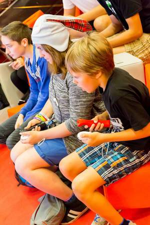 Junge Spieler auf der Gamescom