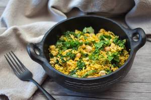 Kale and Chickpea Rice