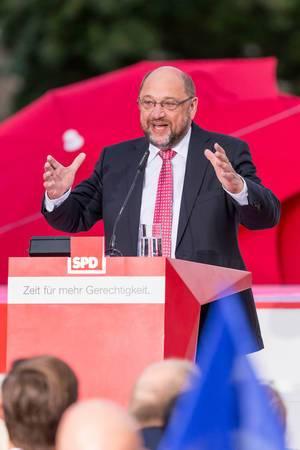 Kanzlerkandidat bei seiner Rede in Köln am  21.09.2017