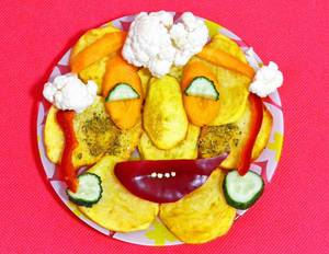 Kartoffel-Gesicht
