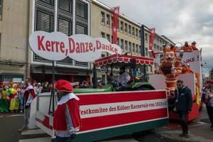 Kerre, Danze, Danke - Müllmänner-Wagen - Kölner Karneval 2018