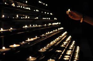 Kerzen im Stephansdom
