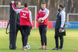 Kevin McKenna, Dominique Heintz und Stefan Ruthenbeck beim Training