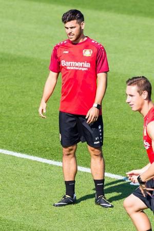 Kevin Volland und Dominik Kohr beim Training - Bayer 04 Leverkusen