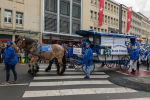Kindergruppe Blaue Funken beim Rosenmontagszug - Kölner Karneval 2018
