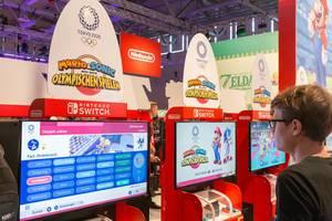 Klassische Kultcharaktere im Nintendo Switch Spiel Mario&Sonic bei den olympischen Spielen