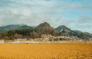 Kleine Stadt in Slowenien