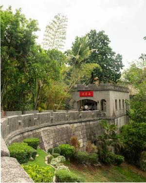 Kleiner Nachbau der chinesischen Mauer