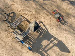 Klettergerüst auf Spielplatz