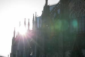 Kölner Dom im Gegenlicht