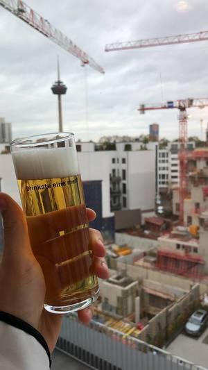Kölsch im Glas bei WeWork in Köln