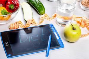 Konzeptbild / Hintergrundbild zum Thema Diäten / Ernährung