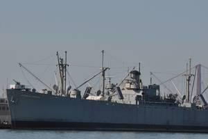 Kriegsschiff am Fisherman